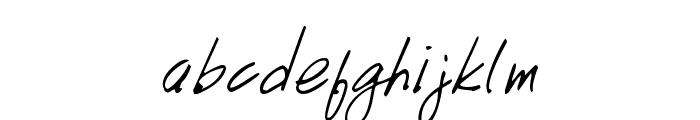 Handwriting Font LOWERCASE