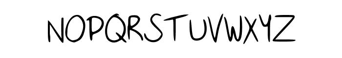 Handwritingfont Font UPPERCASE