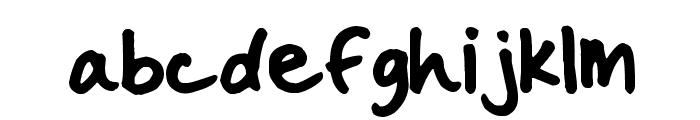 Handwritten Crystal v2 Font LOWERCASE