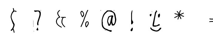 HandwrittenSlim Font OTHER CHARS