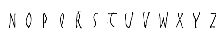 HandwrittenSlim Font UPPERCASE