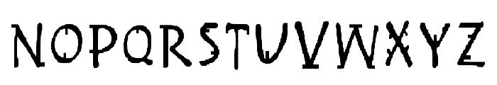 Handy Regular Font UPPERCASE