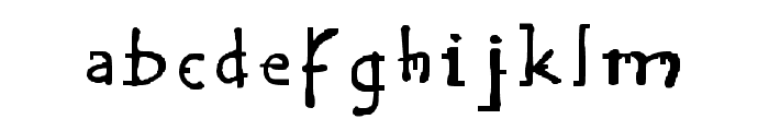 Handy Regular Font LOWERCASE