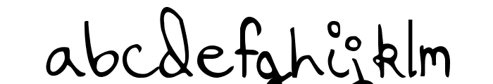 Hanging By a Thread Font LOWERCASE