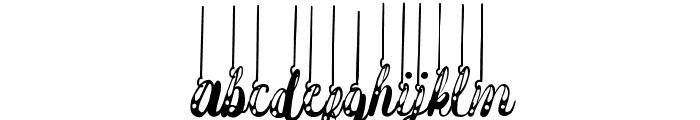 Hanging Darling Font LOWERCASE