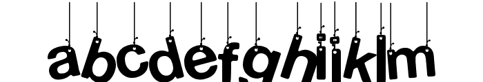 Hanging Letters Font LOWERCASE