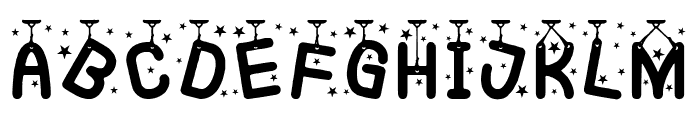 Hanging Party Font LOWERCASE