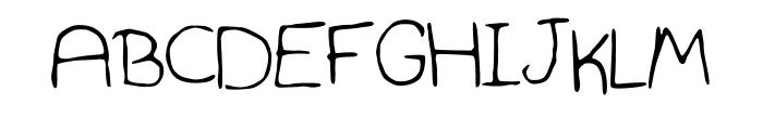 Hannah_Font_Print Font UPPERCASE