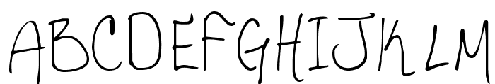 Hannahs Messy Handwriting Font UPPERCASE