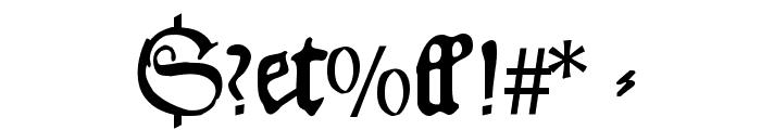 HansFraktur Font OTHER CHARS