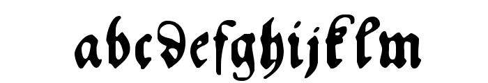 HansFraktur Font LOWERCASE