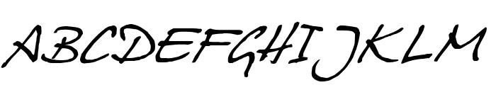 HansHand Font UPPERCASE