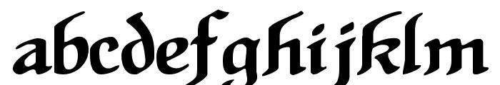 HansSachsGotisch Font LOWERCASE