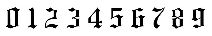 Hansa Gotisch UNZ1L Italic Font OTHER CHARS