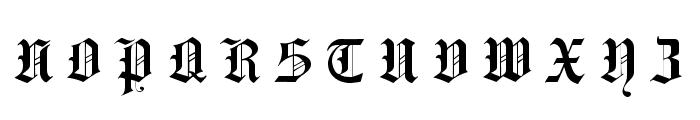 Hansa Gotisch UNZ1L Italic Font UPPERCASE