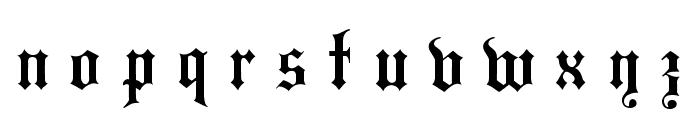 Hansa Gotisch UNZ1L Italic Font LOWERCASE