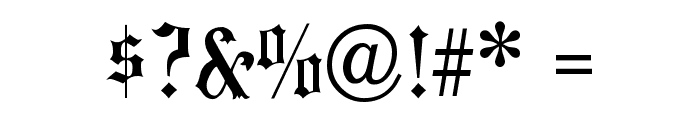 HansaGotisch Font OTHER CHARS
