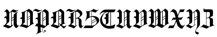HansaGotisch Font UPPERCASE