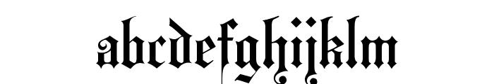 HansaGotisch Font LOWERCASE
