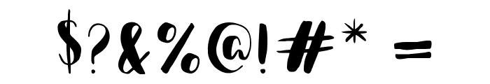 Happy Camper Regular Font OTHER CHARS