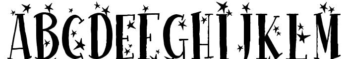Happy New One Font UPPERCASE