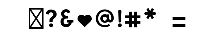 Happy Snail Mail DEMO Filled Font OTHER CHARS