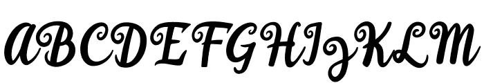 Happy Sunday Font UPPERCASE