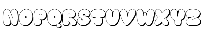 Happy brown cat shadow Font LOWERCASE