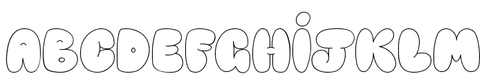 Happy brown cat Font LOWERCASE