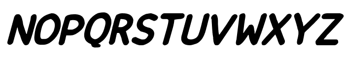 Happy markers Italic Font UPPERCASE