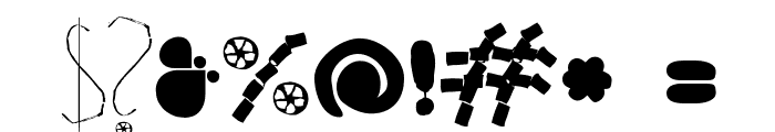 HappyFrushZero Font OTHER CHARS