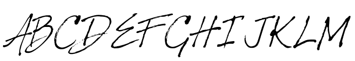 HarabaraHand Italic Font UPPERCASE