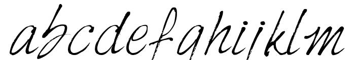 HarabaraHand Italic Font LOWERCASE