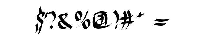 Harakiri Font OTHER CHARS