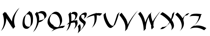 Harakiri Font UPPERCASE