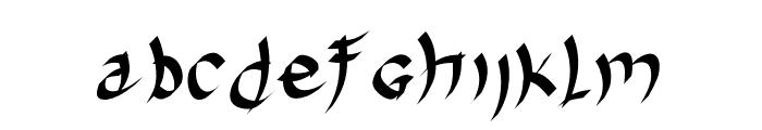 Harakiri Font LOWERCASE