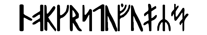 Harald Runic Font LOWERCASE