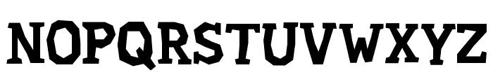 Hard Compound Font UPPERCASE
