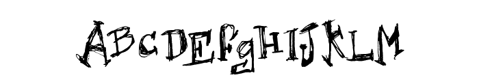 Hard Dumb Font UPPERCASE