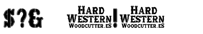 Hard Western Font OTHER CHARS
