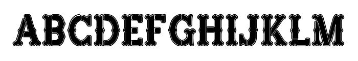 Hard Western Font LOWERCASE