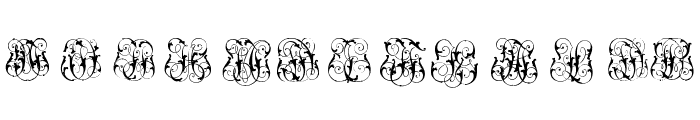 Hard to Read Monograms Two Font UPPERCASE