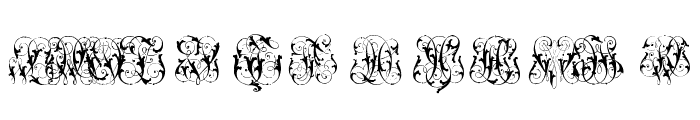 Hard to Read Monograms Two Font LOWERCASE