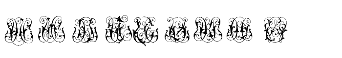 Hard to Read Monograms Font UPPERCASE