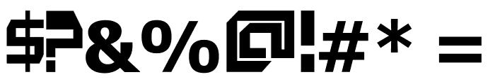 HardF[o]nt Font OTHER CHARS