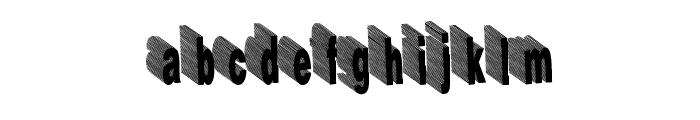 HardLine Font LOWERCASE