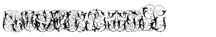 HardtoReadMonogramsTwo Font UPPERCASE