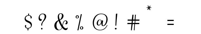 HarlandScriptDemo Font OTHER CHARS