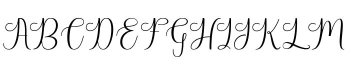 HarlandScriptDemo Font UPPERCASE