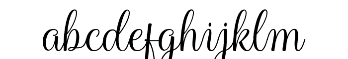 HarlandScriptDemo Font LOWERCASE
